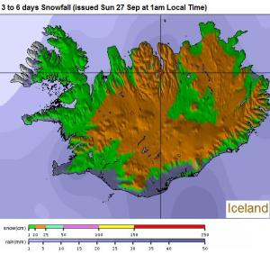 pronóstico nieve Islandia