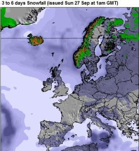 Europa pronóstico nieve